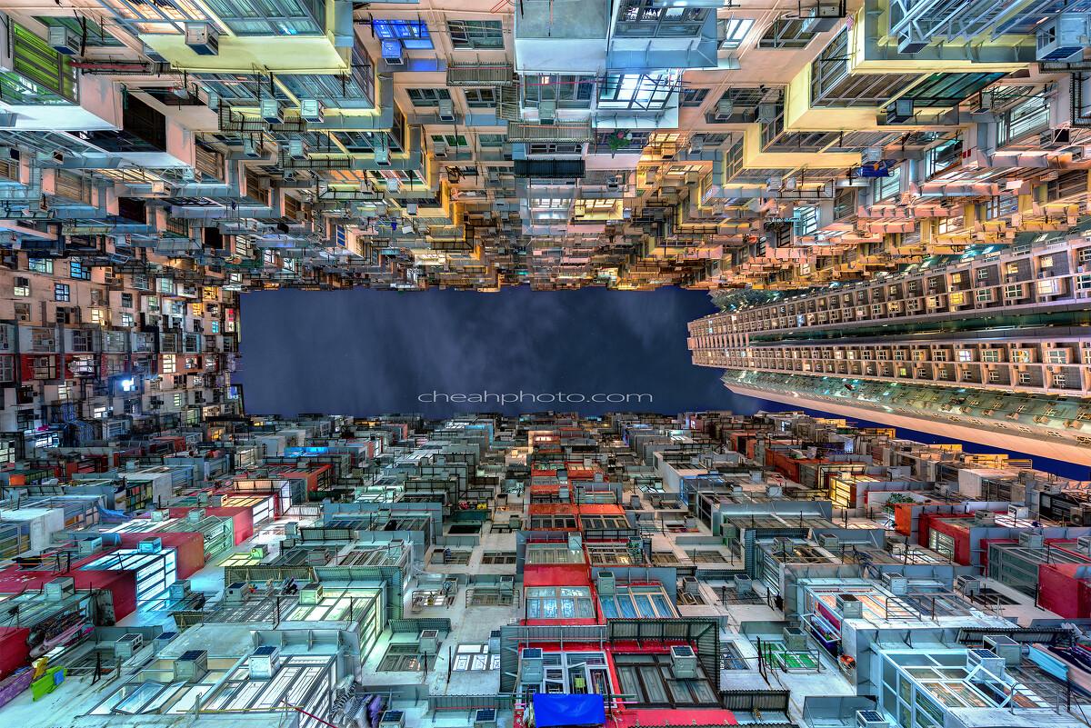 香港地�_香港地,地少人多,密集式的居住环境已是特色之一,从这相片可见见一班.