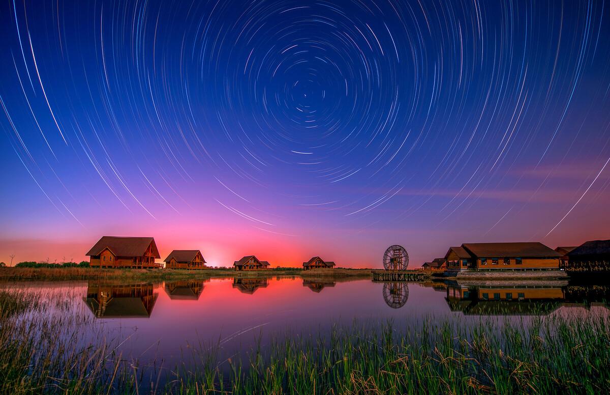 我爱家乡夜空美