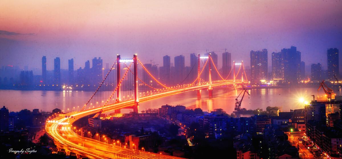 地点:武汉鹦鹉洲大桥          图片