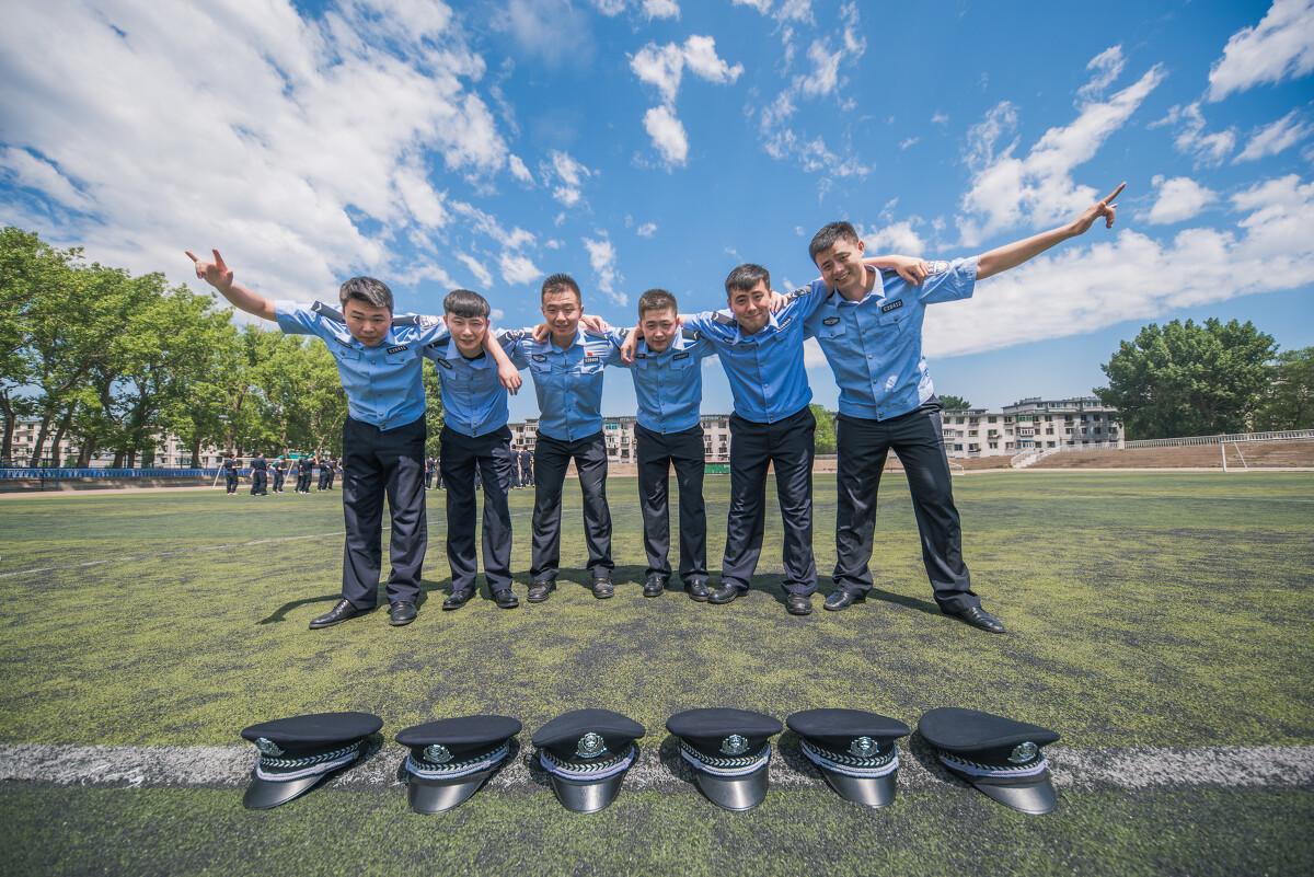 警校毕业照之橄榄绿六中郑州升学率高中图片