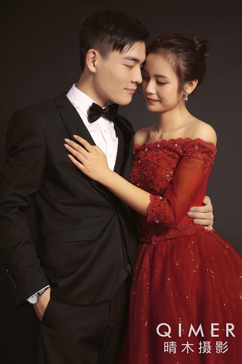 写真韩式唯美夜景婚纱照文艺森系日系小清新逆光情绪头像图片私人定制