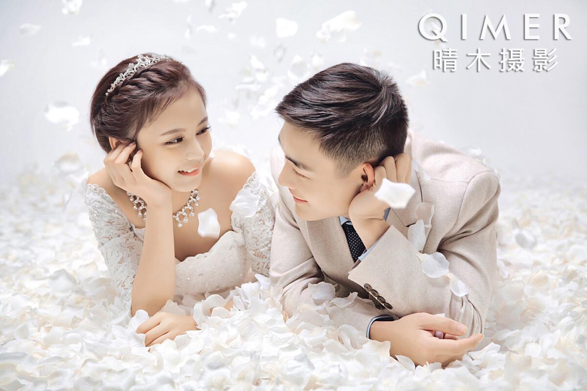 情侣写真韩式唯美夜景婚纱照文艺森系日系小清新逆光情绪头像图片私人