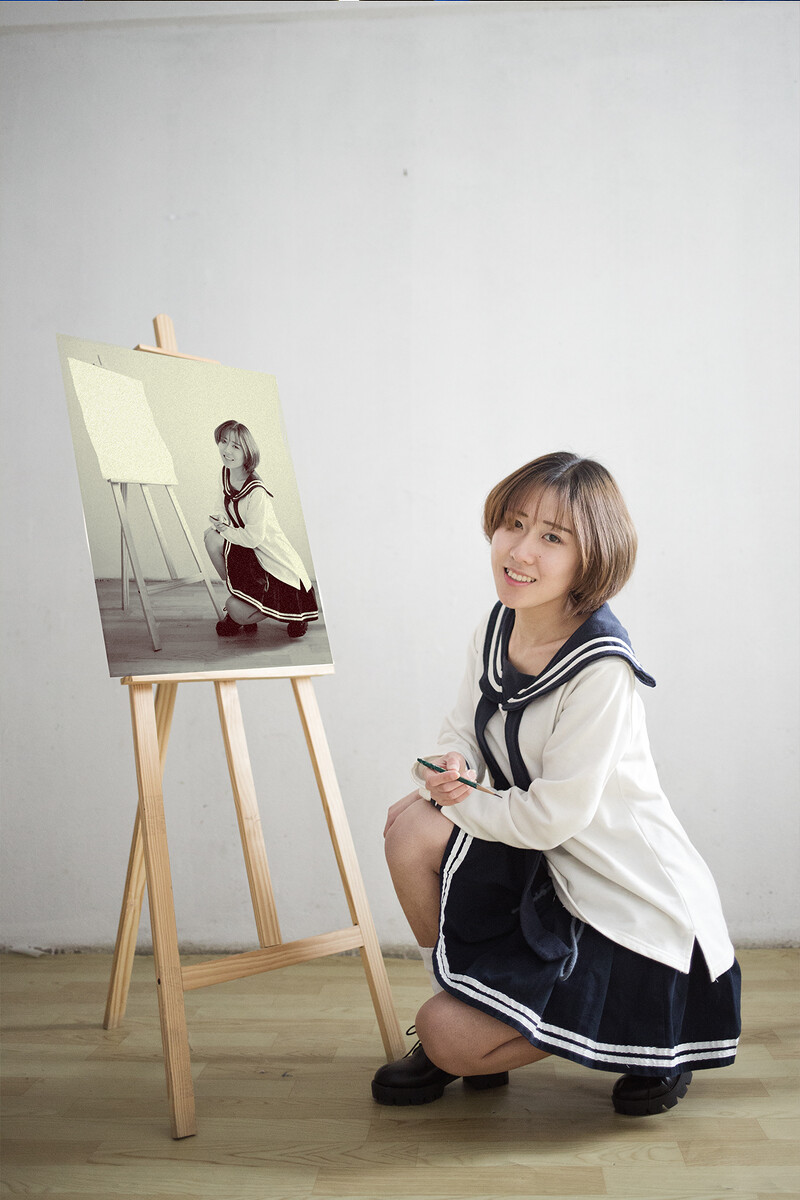 少女随拍-人像,女生,日系,小a少女,35mm,佳斤95的私房图片