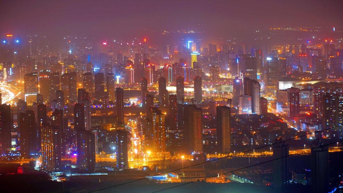 2018太原龙城夜景图片