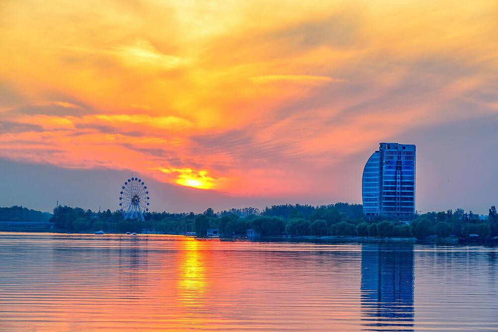 山东省安丘市_拍摄于山东省安丘市青云湖风景区