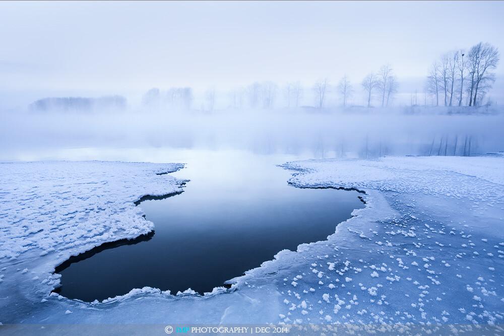 水之三态:固,液,气,同时呈现眼前,感慨自然造化神奇。