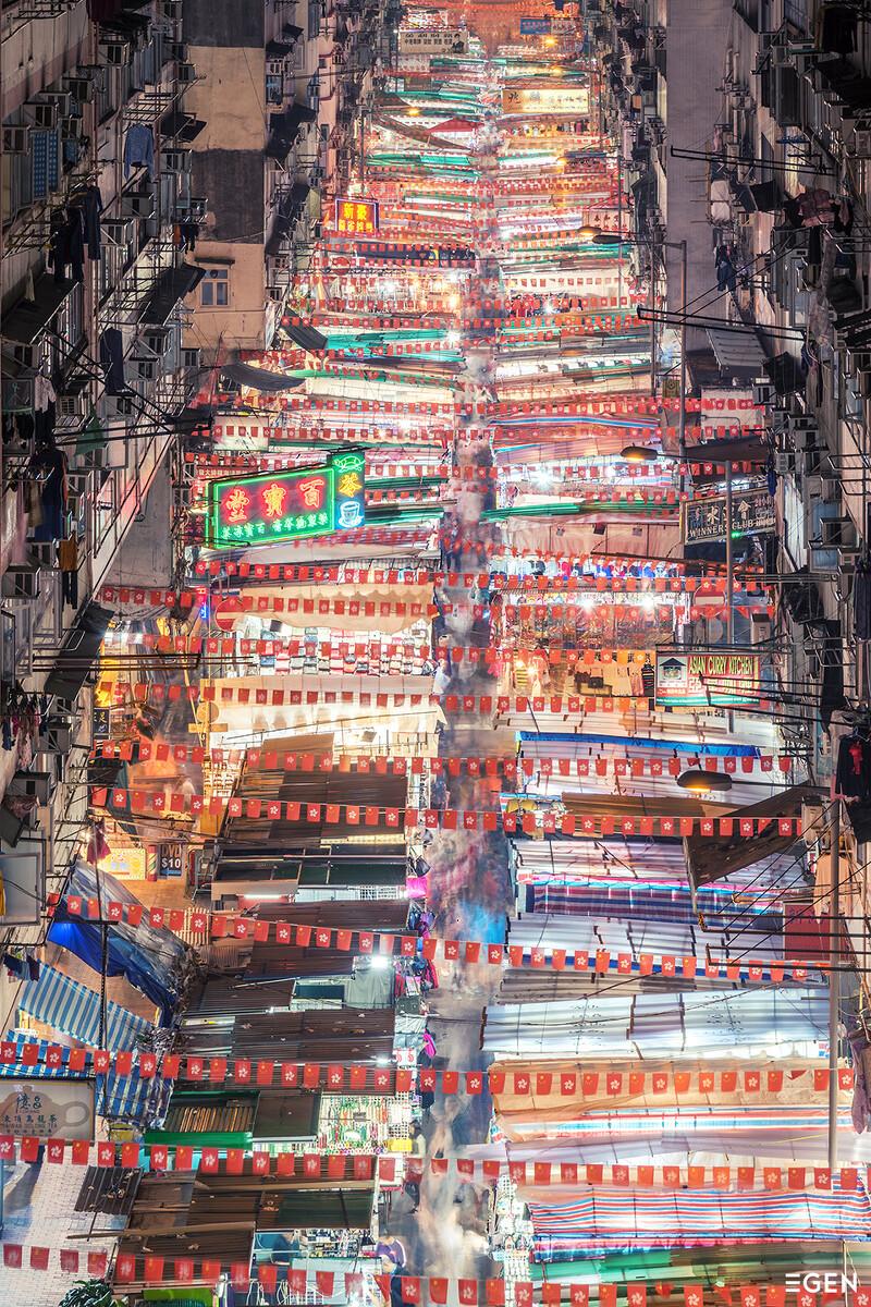 香港建筑之魂,重复与密集