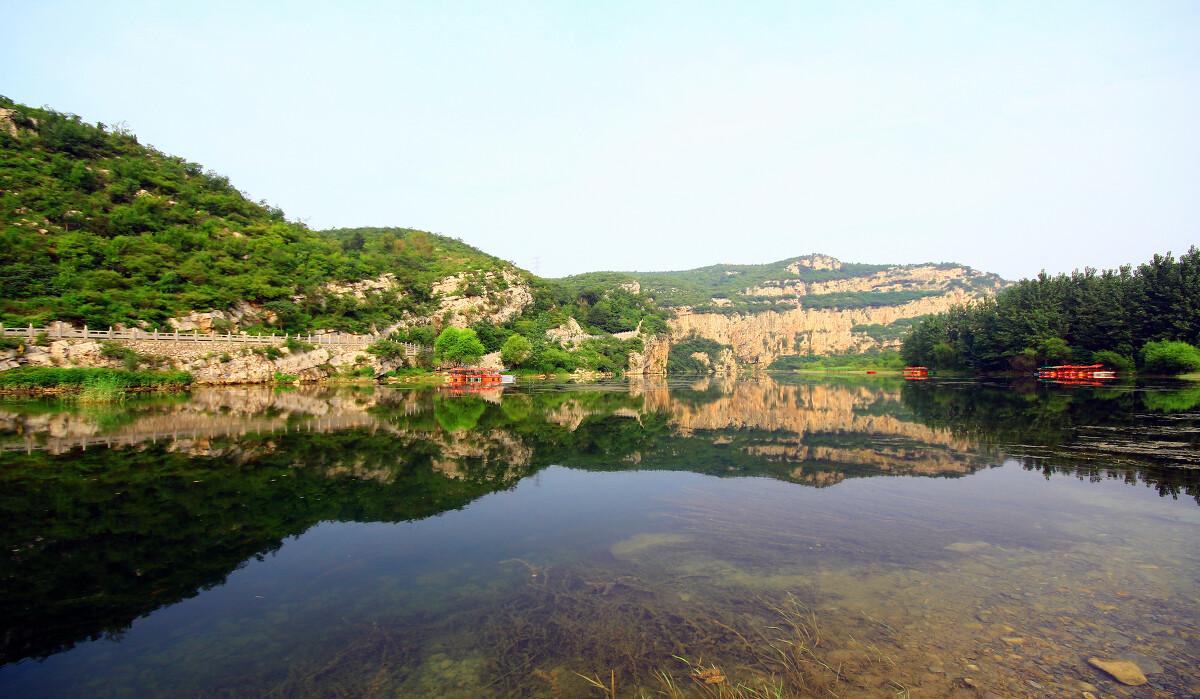 河南鹤壁淇河景点_《淇河太极图》拍摄于河南鹤壁淇河太极图景区.