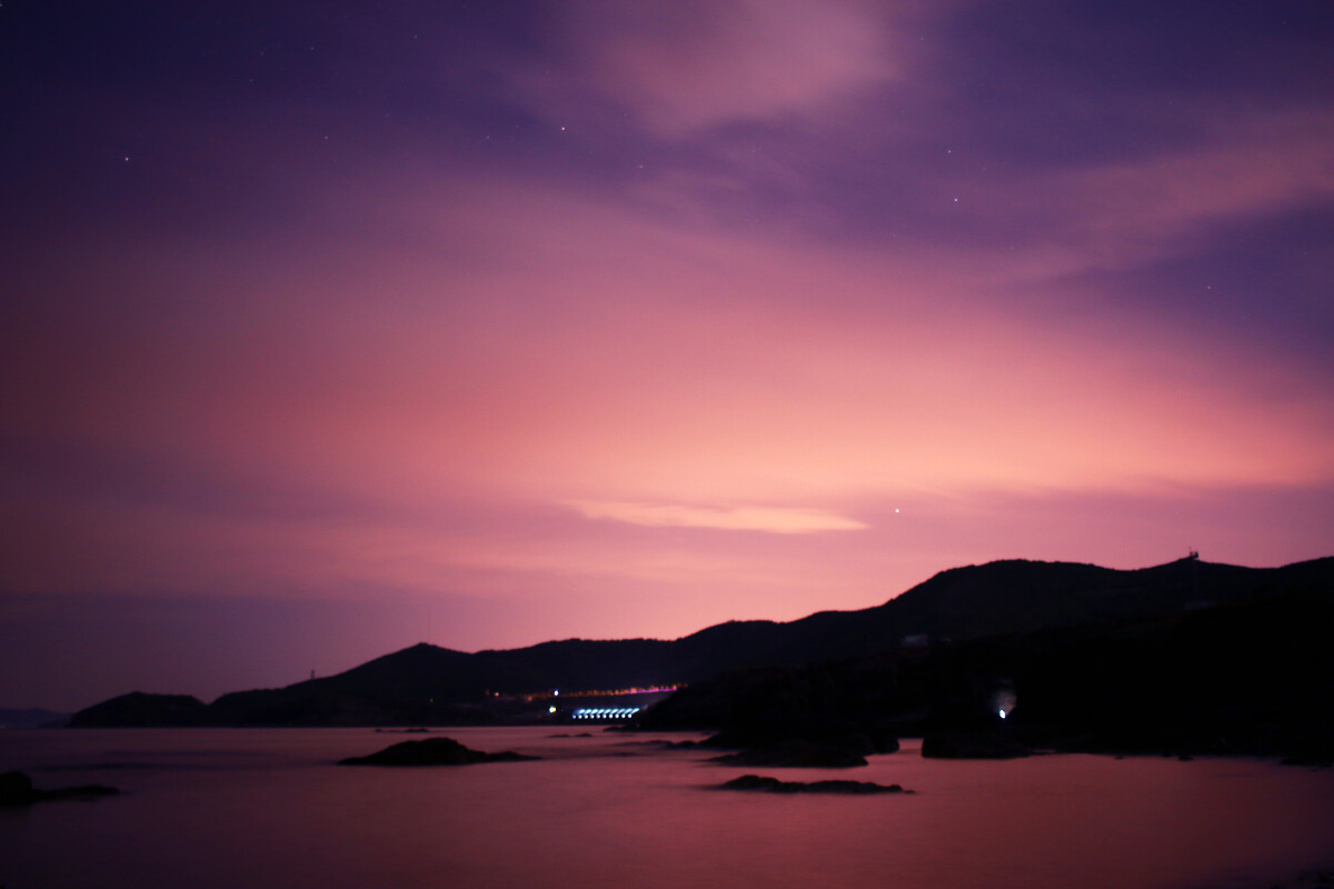 夜晚风景照图片