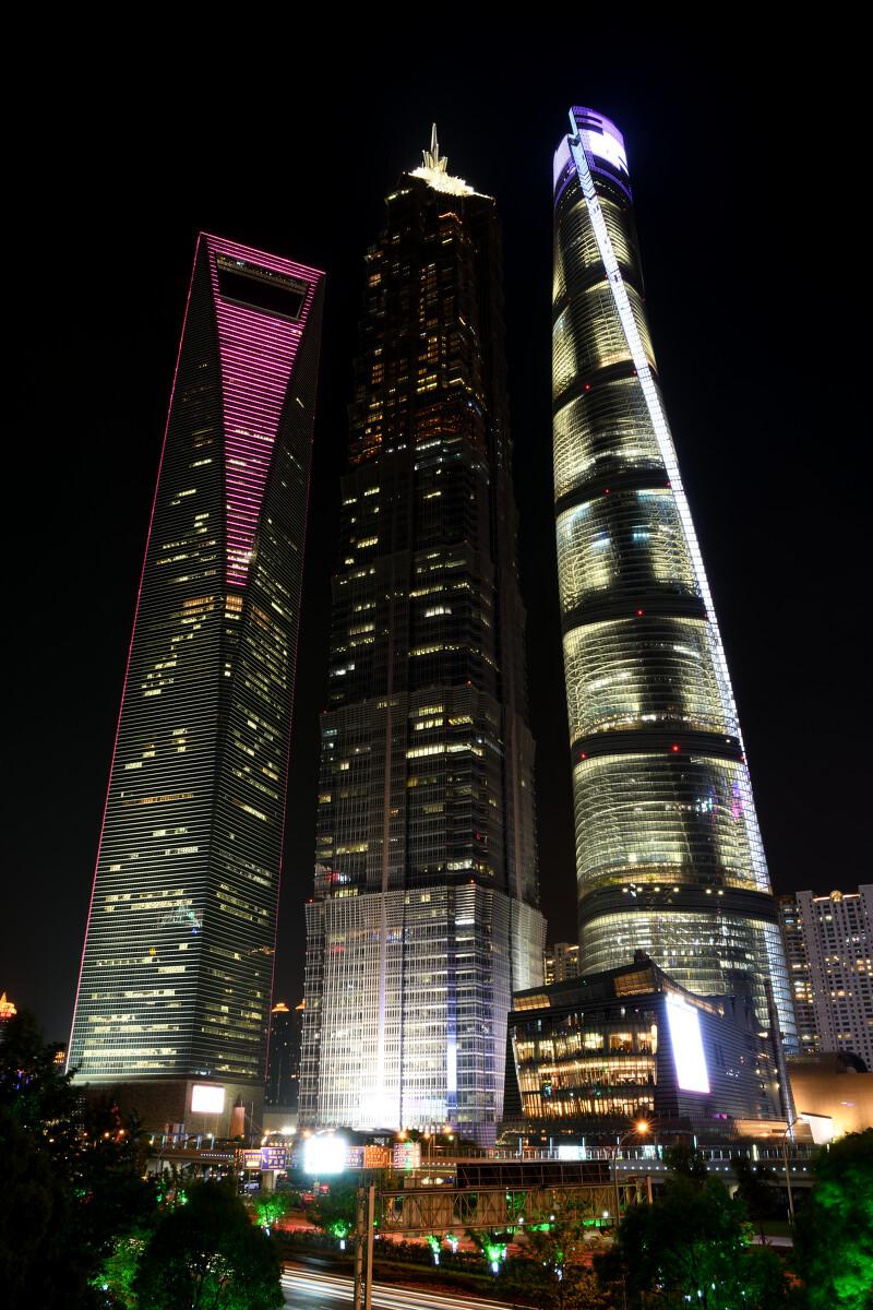 上海陆家嘴,夜景,上海中心,金茂大厦