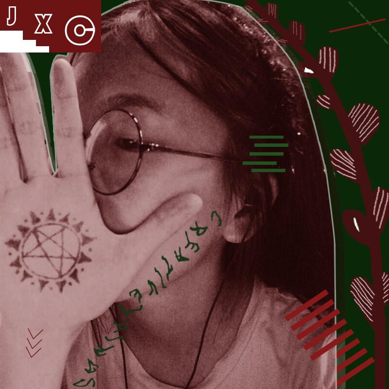 短暂性纹身,在手心画了个像百变小樱的魔法阵,真是好喜欢啊