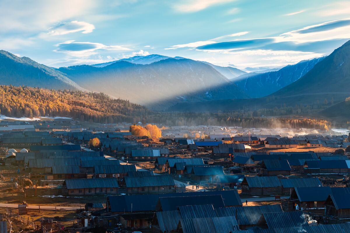景区v景区于新疆喀纳斯图片,禾木村.crossfingers全攻略图片