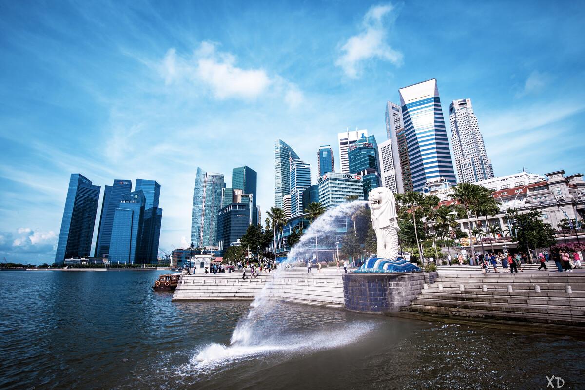 【新加坡 鱼尾狮公园】 这必须是新加坡最为标志性的经典.