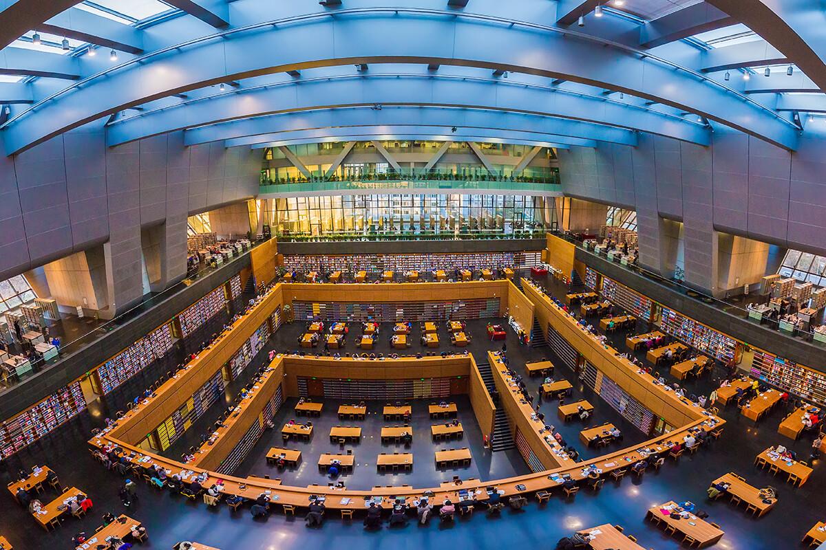 中国国家图书馆新馆室内全景!