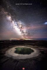 盐湖映银河