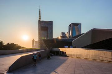 广州歌剧院日落
