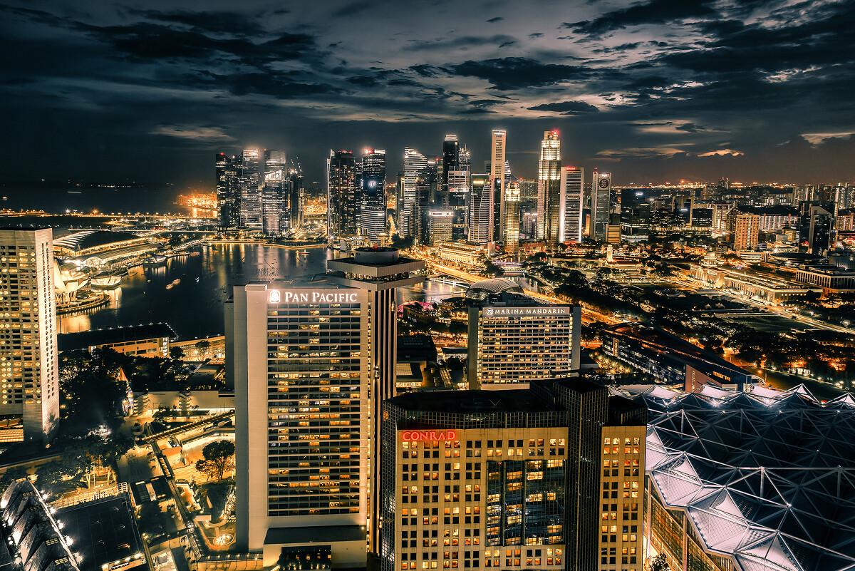新加坡滨海湾。混进别的公司匆匆拍下的照片。