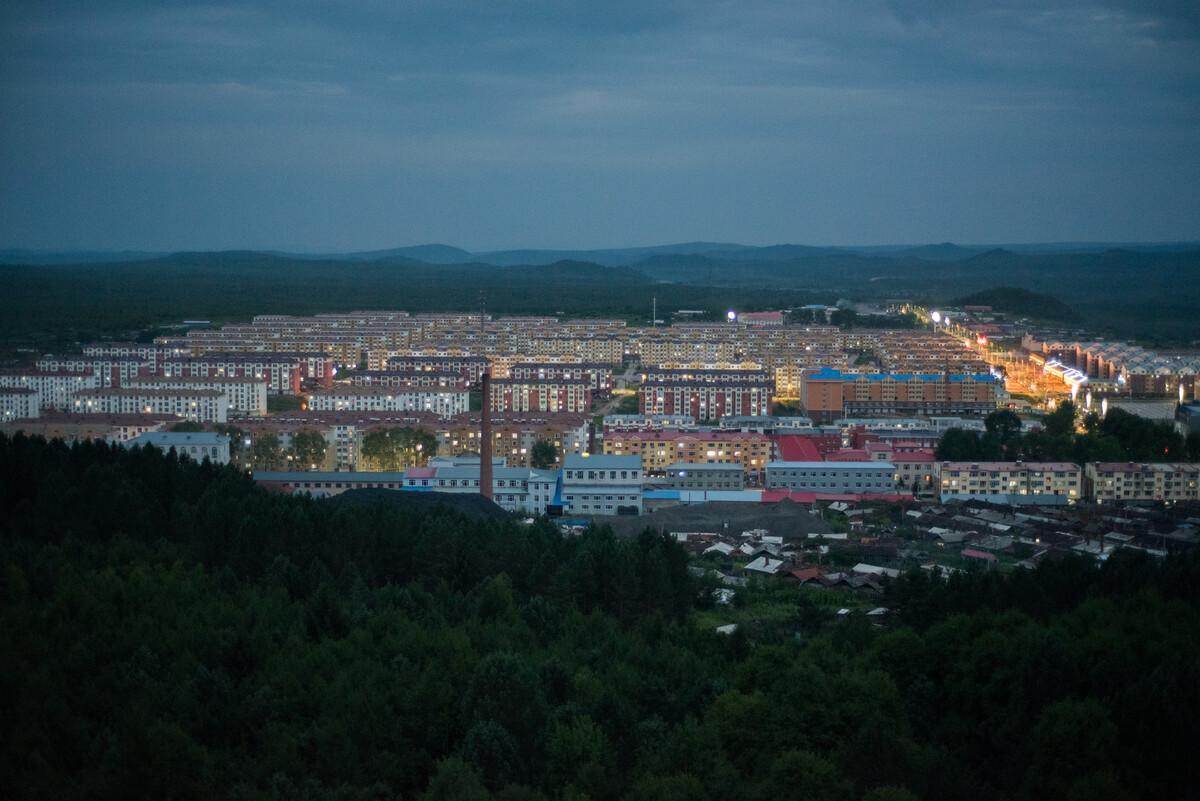 2018年7月29日黑龙江伊春市乌伊岭区,地处小兴安岭,1964年设立林场,如今成为一个被森林包围的小镇。