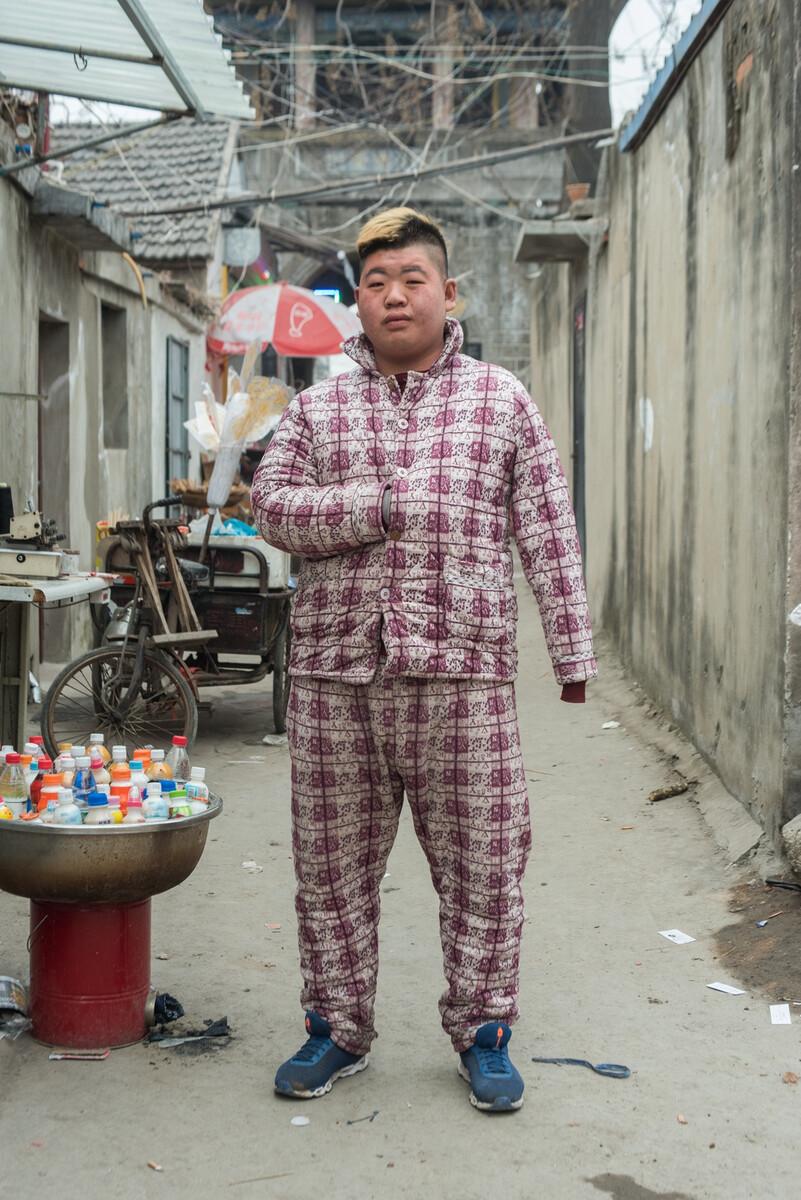 2018年2月9日安徽蒙城县街头。