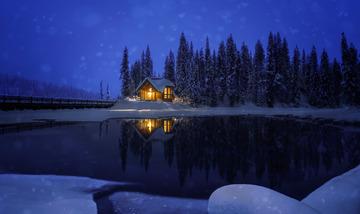 冬天翡翠湖