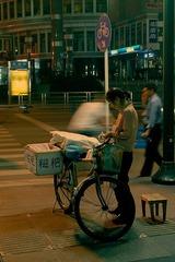 天府广场的小贩