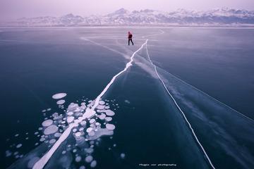 疾风行走在冰泡湖上