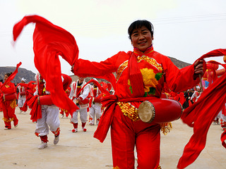 扭秧歌的陕北婆姨