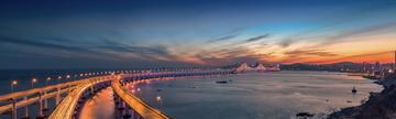 夜幕下的星海大桥