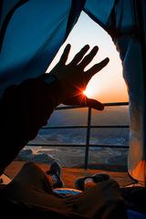山上的日出!光的魅力!
