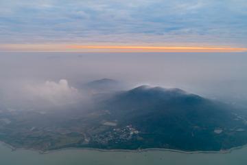 飞行巢湖---四顶山一线朝霞