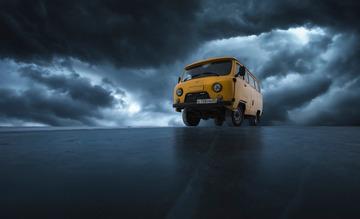 贝加尔湖的黄包车