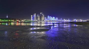 青岛浮山湾的夜色