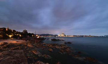 青岛的海滨夜色