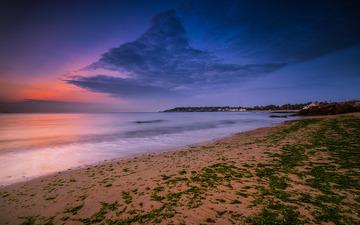 青岛的海边晨曦