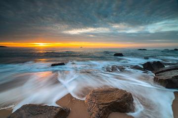青岛的日出与细浪