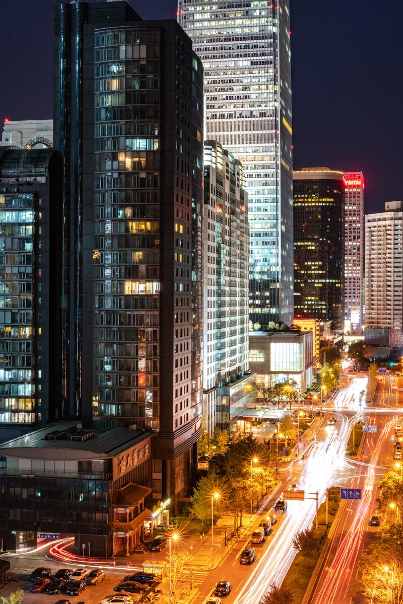 北京金桐东路遥望国贸方向