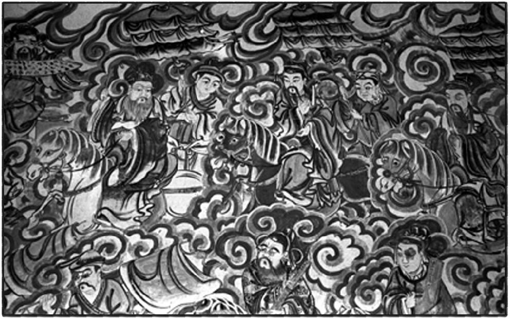 6、在遗留下破损的衙庙内,墙上残留着精美的壁画。.jpg