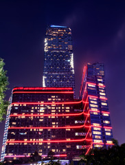 红色玩具建筑