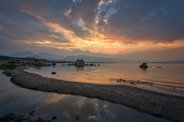 梦露湖夕阳