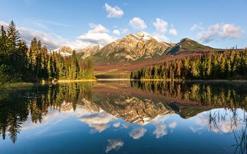 落基山金字塔湖--加拿大嘉士伯国家公园