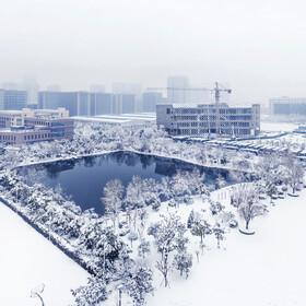 中国声谷看雪景