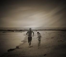 奔跑的父女