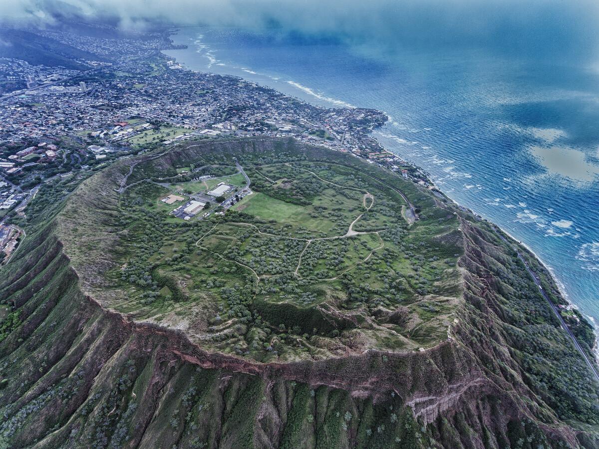 夏威夷欧胡岛diamond head火山口
