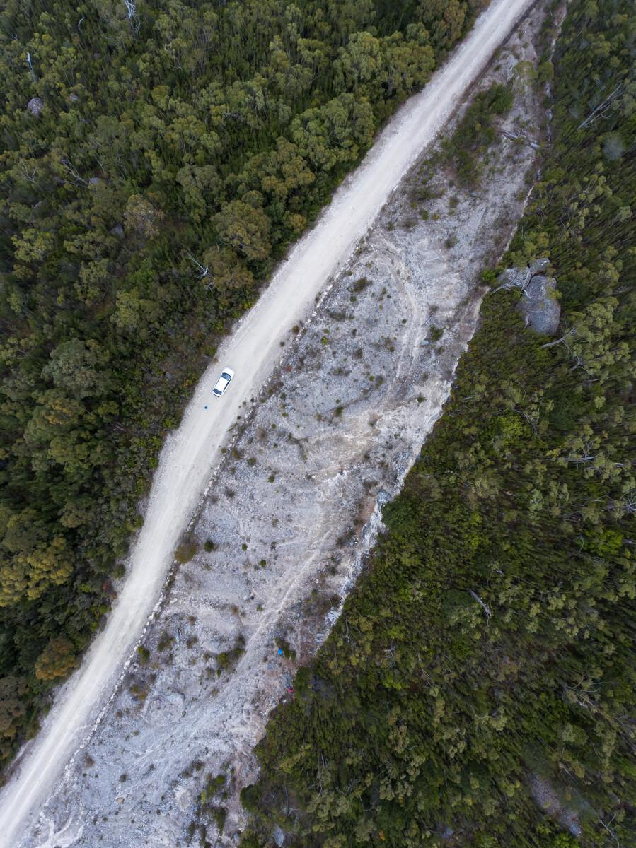 裂 - 摄于澳大利亚塔斯马尼亚