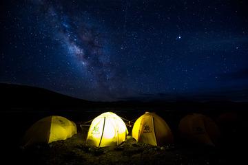 玉珠峰的银河