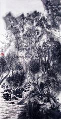 《水墨山水系列》之九 2017, 138cmX68cm,纸本水墨
