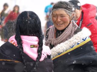 雪中的微笑