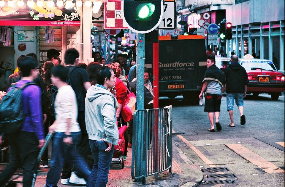 香港人<br /> 摄于旺角街头