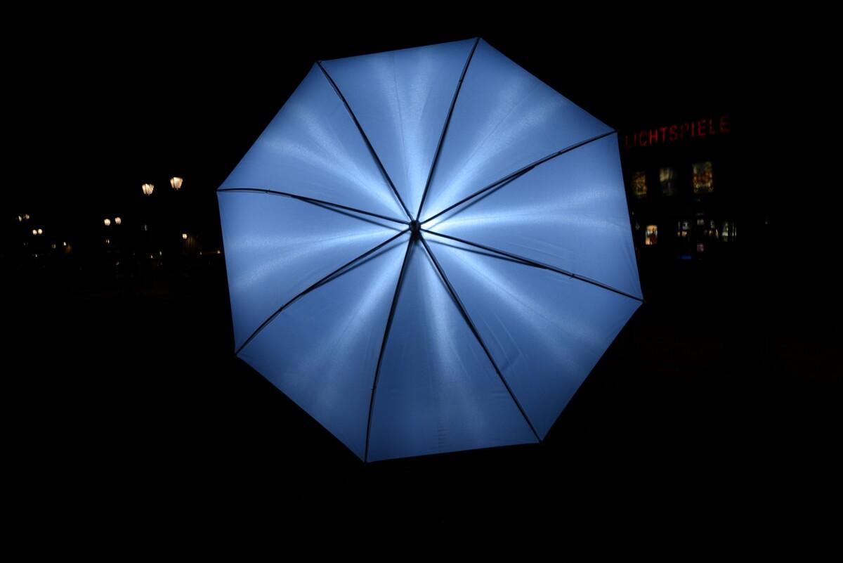 不同光圈下的 透光伞 光分布 <br /> 效果真不好。