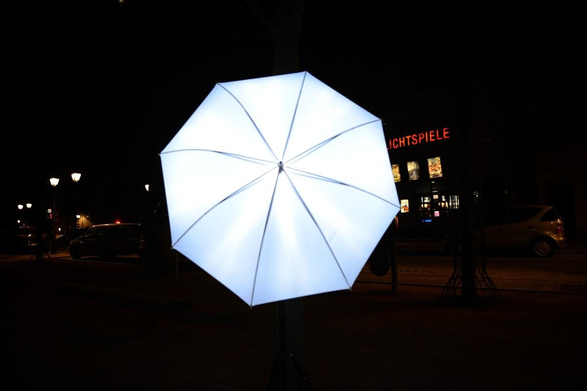 不同光圈下的 透光伞 光分布 <br />